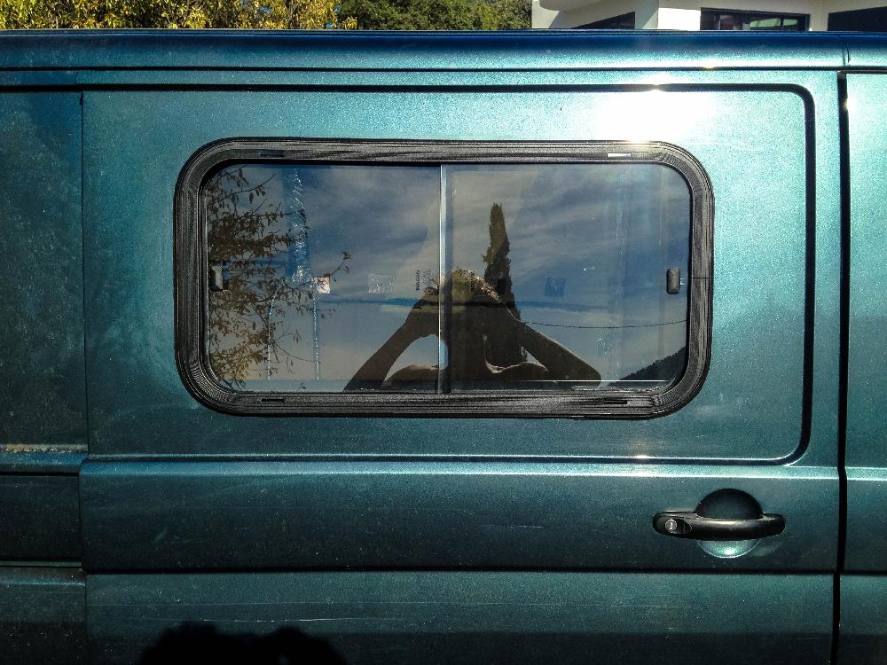 Fenêtre latérale posée