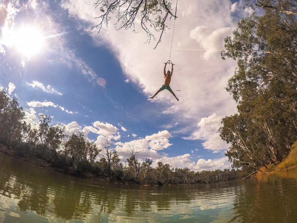 Rope swing Murray river