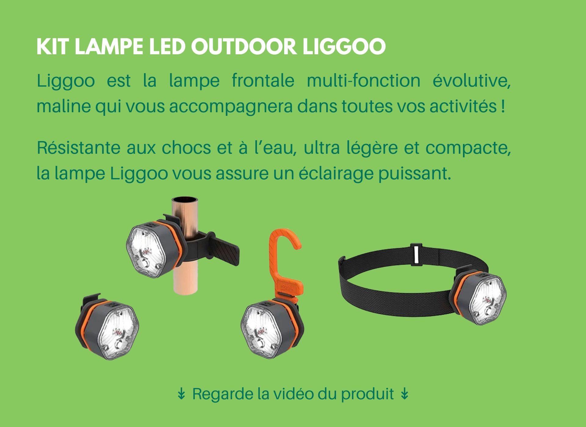kit lampe frontale led outdoor liggoo